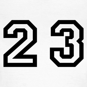 White Number - 23 - Twenty Three Women's T-Shirts - Women's T-Shirt