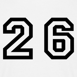 White Number - 26 - Twenty Six Men's T-Shirts - Men's T-Shirt