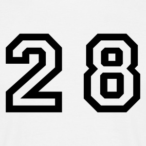 White Number - 28 - Twenty Eight Men's T-Shirts - Men's T-Shirt