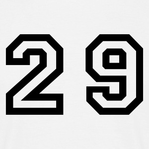 White Number - 29 - Twenty Nine Men's T-Shirts - Men's T-Shirt