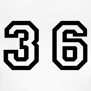 White Number - 36 - Thirty Six Women's T-Shirts - Women's T-Shirt
