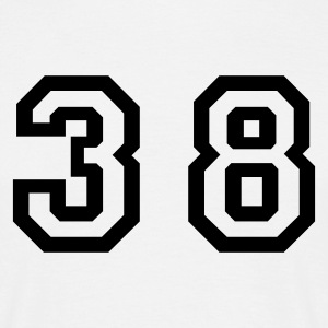 White Number - 38 - Thirty Eight Men's T-Shirts - Men's T-Shirt