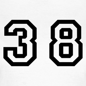 White Number - 38 - Thirty Eight Women's T-Shirts - Women's T-Shirt
