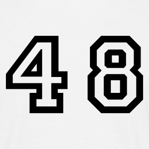 White Number - 48 - Forty Eight Men's T-Shirts - Men's T-Shirt