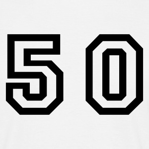 White Number - 50 - Fifty Men's T-Shirts - Men's T-Shirt