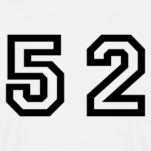 White Number - 52 - Fifty Two Men's T-Shirts - Men's T-Shirt