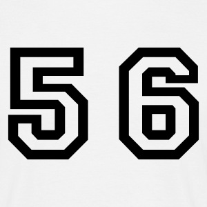 White Number - 56 - Fifty Six Men's T-Shirts - Men's T-Shirt