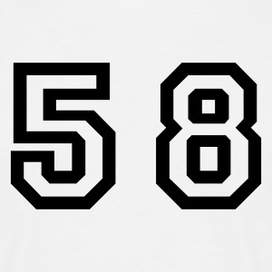 White Number - 58 - Fifty Eight Men's T-Shirts - Men's T-Shirt