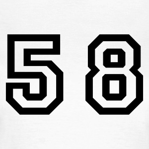 White Number - 58 - Fifty Eight Women's T-Shirts - Women's T-Shirt