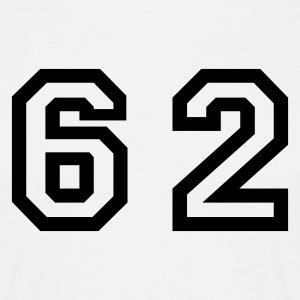 White Number - 62 - Sixty Two Men's T-Shirts - Men's T-Shirt
