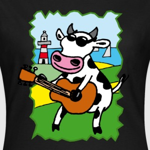 Schwarz cow_rock_c T-Shirts - Frauen T-Shirt