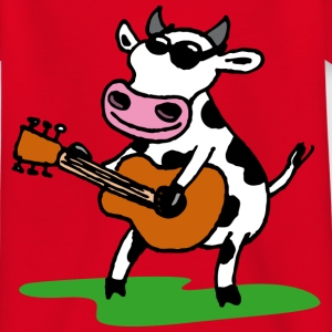 Rot cow_rock_d Kinder T-Shirts - Teenager T-Shirt