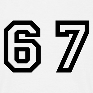 White Number - 67 - Sixty Seven Men's T-Shirts - Men's T-Shirt
