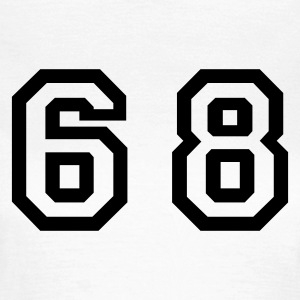White Number - 68 - Sixty Eight Women's T-Shirts - Women's T-Shirt