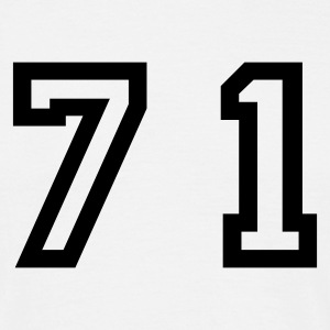 White Number - 71 - Seventy One Men's T-Shirts - Men's T-Shirt