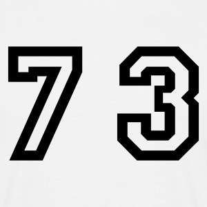 White Number - 73 - Seventy Three Men's T-Shirts - Men's T-Shirt