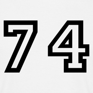 White Number - 74 - Seventy Four Men's T-Shirts - Men's T-Shirt
