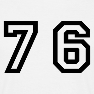 White Number - 76 - Seventy Six Men's T-Shirts - Men's T-Shirt