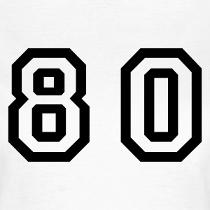 White Number - 80 - Eighty Women's T-Shirts - Women's T-Shirt