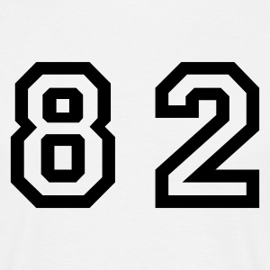 White Number - 82 - Eighty Two Men's T-Shirts - Men's T-Shirt