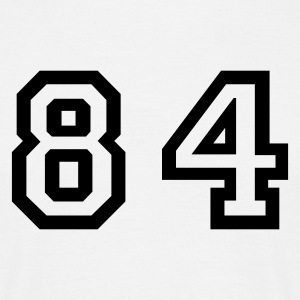 White Number - 84 - Eighty Four Men's T-Shirts - Men's T-Shirt