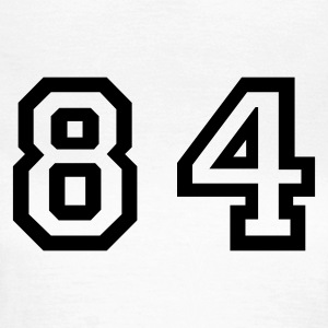 White Number - 84 - Eighty Four Women's T-Shirts - Women's T-Shirt