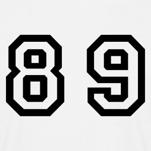 White Number - 89 - Eighty Nine Men's T-Shirts - Men's T-Shirt