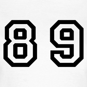 White Number - 89 - Eighty Nine Women's T-Shirts - Women's T-Shirt