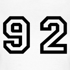 White Number - 92 - Ninety Two Women's T-Shirts