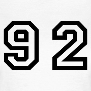 White Number - 92 - Ninety Two Women's T-Shirts - Women's T-Shirt