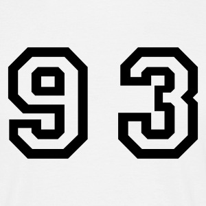 White Number - 93 - Ninety Three Men's T-Shirts - Men's T-Shirt