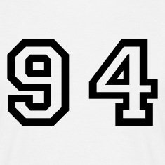 White Number - 94 - Ninety Four Men's T-Shirts