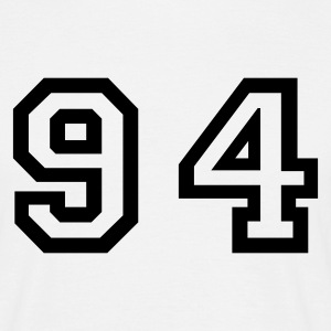 White Number - 94 - Ninety Four Men's T-Shirts - Men's T-Shirt