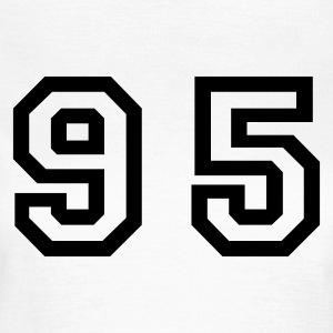 White Number - 95 - Ninety Five Women's T-Shirts - Women's T-Shirt