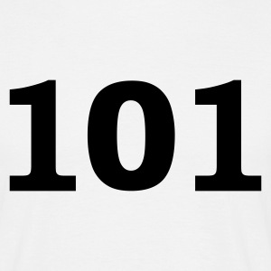 White Number - 101 - One Hundred and One Men's T-Shirts - Men's T-Shirt