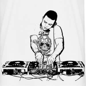 Wit DJ  T-shirts - Mannen T-shirt