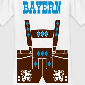 BAYER Kinder Shirt Lederhose + Text - Teenager T-Shirt