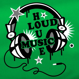 Emerald green Headphone House Design Loud Music  Bags  - Duffel Bag