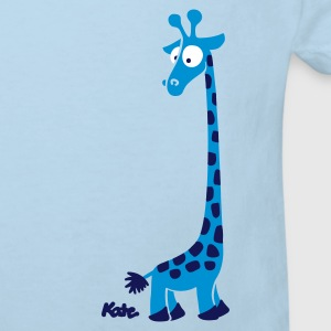 Light blue Giraffe (c) Kids' Shirts - Kids' Organic T-shirt