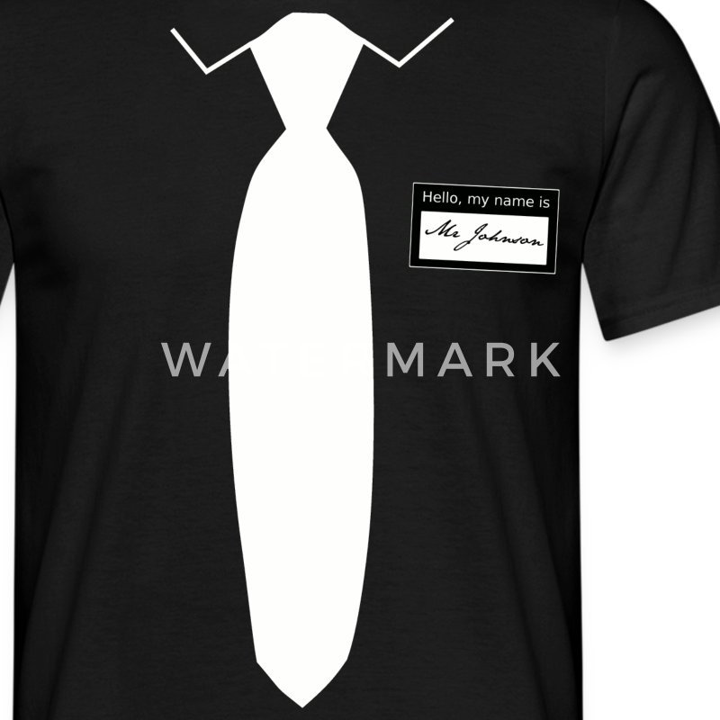 Hello, my name is Mr Johnson - Männer T-Shirt