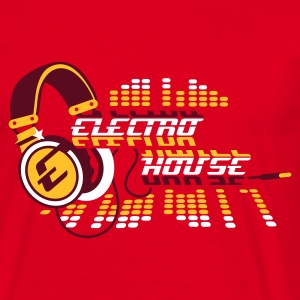 Red Gold  Headphones Electro House Design Men's T-Shirts Men's T-Shirts - Men's T-Shirt