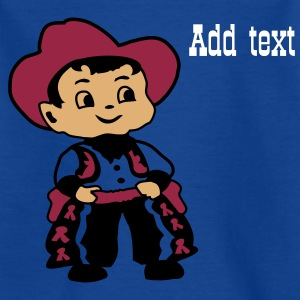 Navy Kid Billy Cowboy Kids' Shirts - Teenage T-shirt