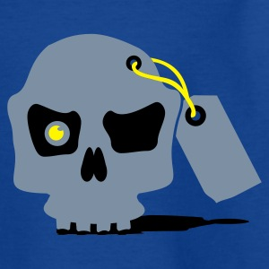 Navy Totenschädel / tagged skull (a0, 3c) Kids' Shirts - Teenage T-shirt