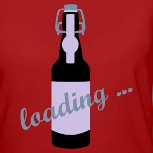 Lila Bierflasche / beer bottle (a, 3c) T-Shirts - Frauen Bio-T-Shirt