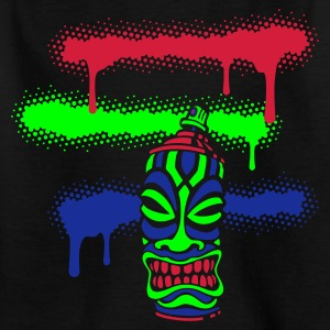 Schwarz SPRAY TIKI STRIPES (C3N) by toneyshirts Kinder Monster T-Shirts - Teenager T-Shirt