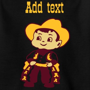 Black Kid Billy Cowboy Kids' Shirts - Teenage T-shirt