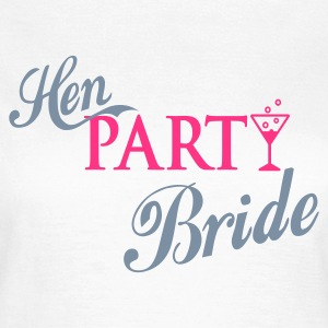 Weiß hen party bride T-Shirts - Frauen T-Shirt