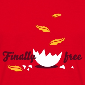 Rouge finally_free T-shirts - T-shirt Homme