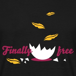 Black finally_free Men's T-Shirts - Men's T-Shirt