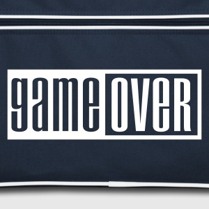 Navy/white game over outline Bags  - Retro Bag